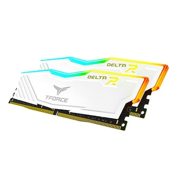 TeamGroup T-Force DDR4-3200 CL16-20-20 Delta RGB 화이트 패키지 가넷 (32GB(16Gx2))