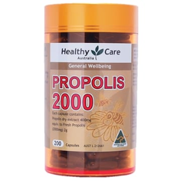 HealthyCare 프로폴리스 2000 200캡슐 (해외) (3개)_이미지
