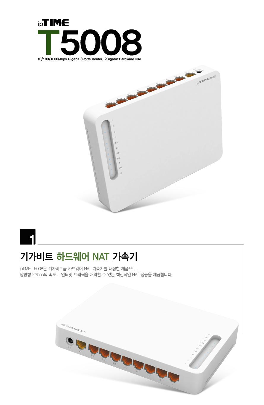 EFM ipTIME T5008 유선공유기