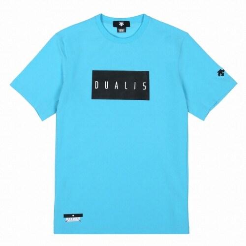 데상트 듀얼리스 워딩 터프 라이트 티셔츠 S9221DTS42 TBLU_이미지