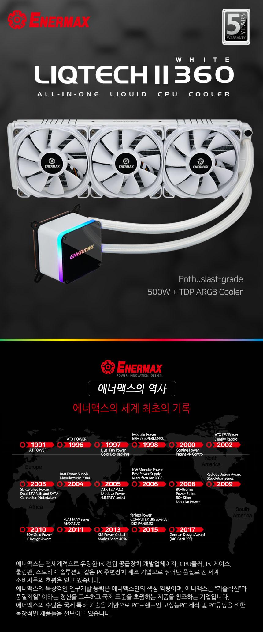 Enermax LIQTECH II 360 WHITE ARGB