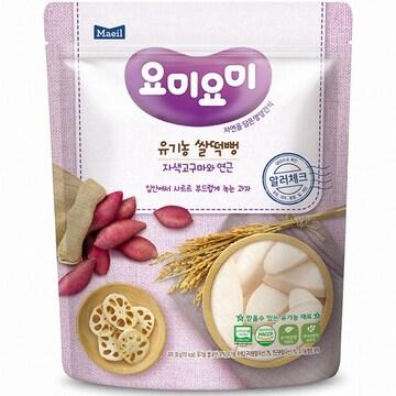 매일유업 맘마밀 요미요미 유기농 쌀떡뻥 자색고구마와 연근 30g (1개)