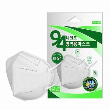 페스트세븐 나인포 황사방역용 마스크 KF94 성인용 (1개입)(1개)