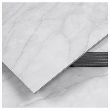 새암산업 유광대리석 마블화이트 접착식 데코타일 TL-07 3.0T