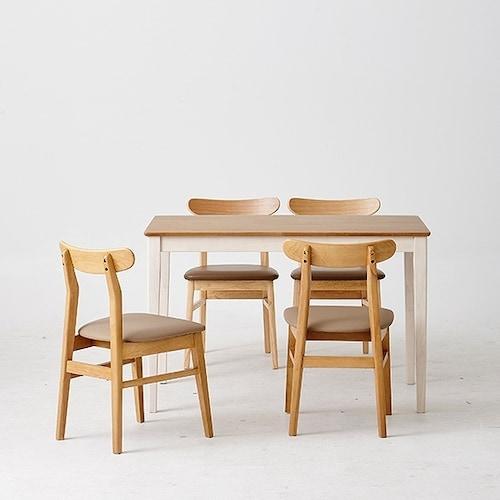 한샘  로하콤비 비트윈의자 식탁세트 1200 (의자4개)_이미지