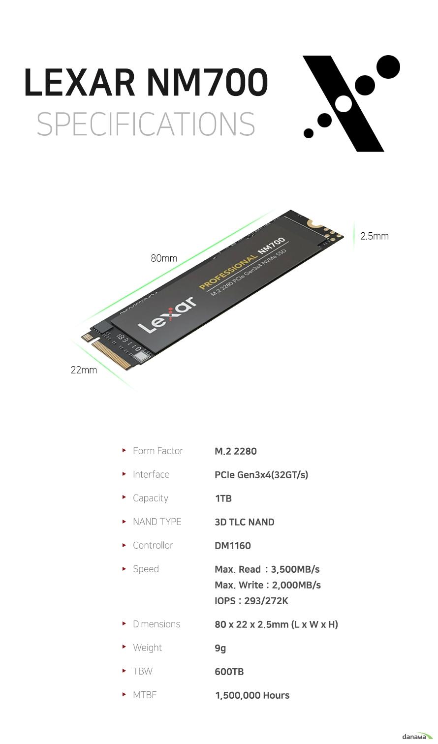 Lexar NM700 M.2 NVMe (1TB)