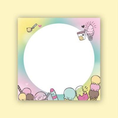 은성 010 아이스크림 캐릭터 디자인 떡메모지_이미지