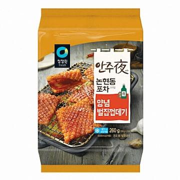 대상 청정원 안주야 논현동 포차스타일 양념벌집껍데기 260g (4개)