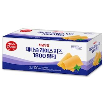 서울우유 체다 슬라이스 치즈 100매입 1.8kg (1개)_이미지