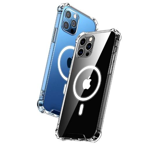 뮤고스 아이폰12/프로 맥세이프 무선충전 액체 실리콘 투명 케이스