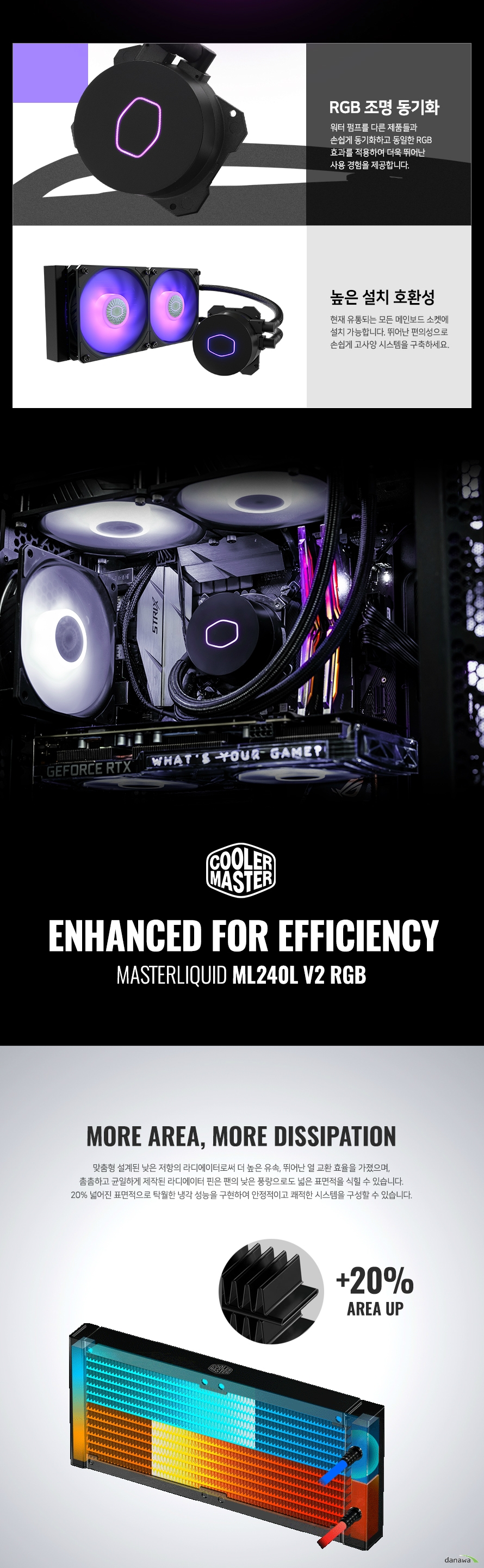 쿨러마스터 MasterLiquid ML240L V2 RGB