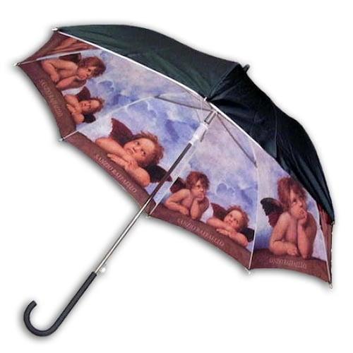 레인보우 헬로우레인캣츠 라파엘로 천사 이중 자동 우산_이미지