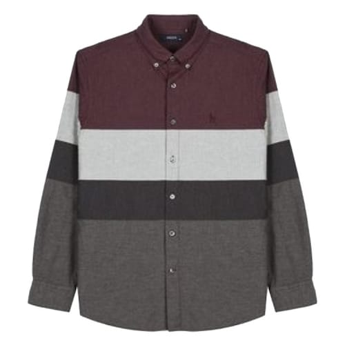 LF 헤지스(HAZZYS) 네이비 컬러배색 면 긴팔 캐주얼 셔츠 HZSH7D563D2_이미지