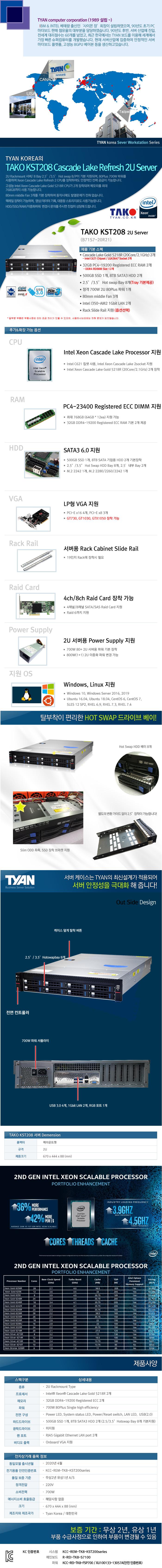 TYAN TAKO-KST208-(B71S7-20R21) (64GB, SSD 500GB + 16TB)