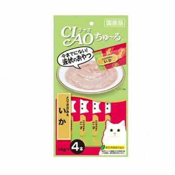 이나바펫푸드 챠오츄르 닭가슴살 + 오징어 14g x 4P(1개)