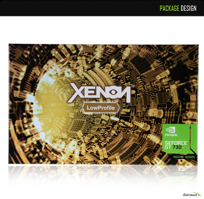 XENON 지포스 GT730 D5 1GB LP 제품 쿨링 시스템성