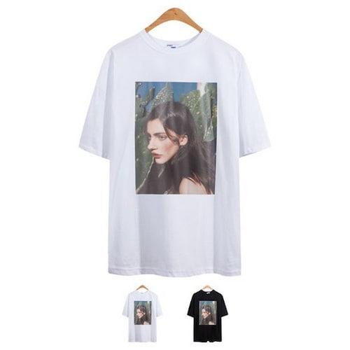 비케이커머스 모니즈 루즈핏 줄리아나 반팔 티셔츠 TSB758_이미지