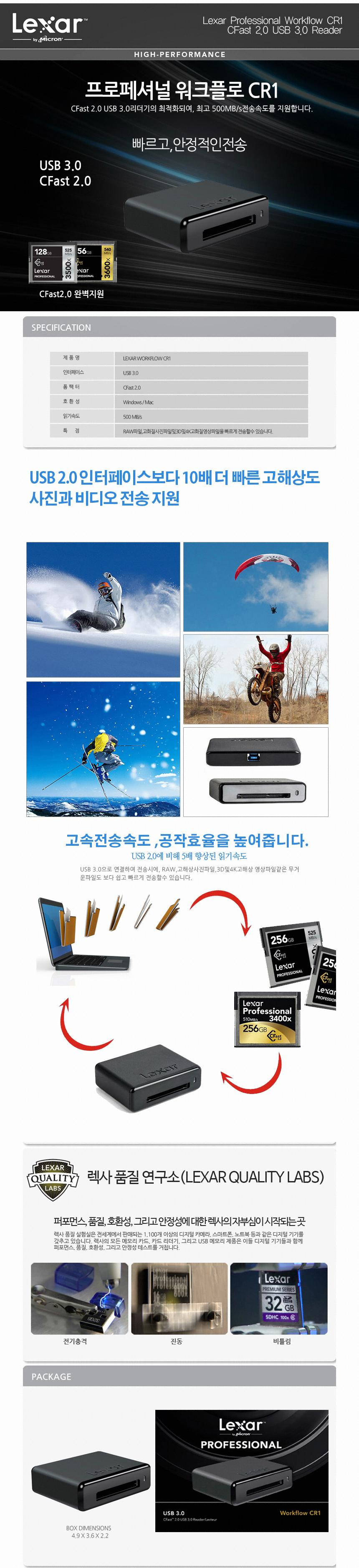 Lexar  프로페셔널 워크플로 CR1(정품)