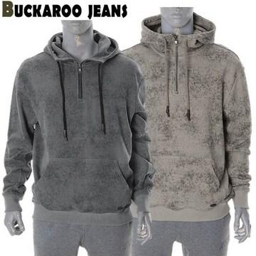 버커루 3단쭈리 루즈핏 후드 아노락 티셔츠