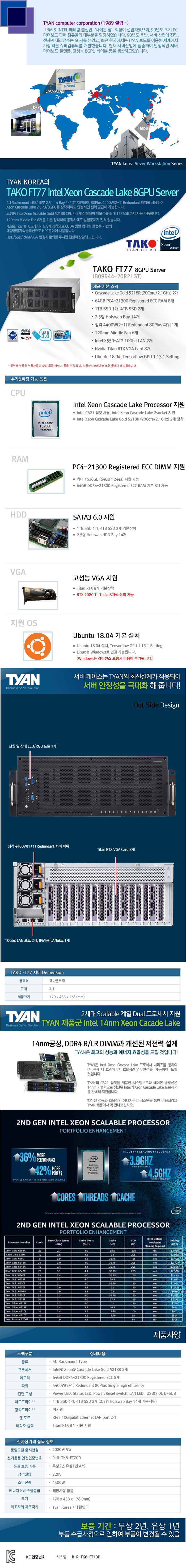 TYAN TAKO-FT77-(B09R44-20R21GT) (512GB, SSD 9TB)