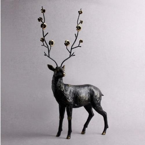 트리 아트피플 꽃사슴 조각상 A66_이미지
