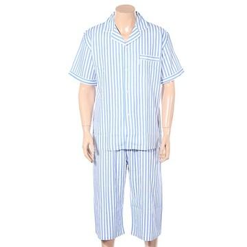 트라이엄프  남성 레이온 스트라이프 반팔 잠옷 세트 TMJ0837