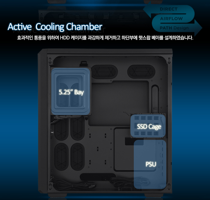 Corsair Carbide Series Air 540 내부 이미지 - Passive Cooling Chamber