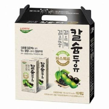 롯데푸드 파스퇴르 칼슘두유 검은콩 검은깨 190ml (96개)