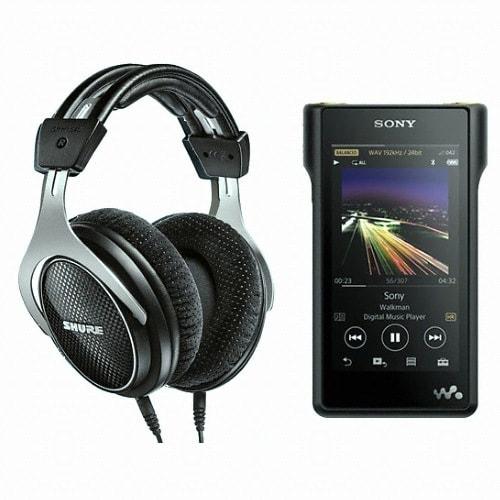 SONY Walkman NW-WM1A 128GB + 슈어 SRH1540 헤드폰 (정품)_이미지