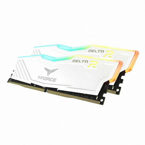 TeamGroup T-Force DDR4 16G PC4-21300 CL16 Delta RGB 화이트 (8Gx2) 가넷