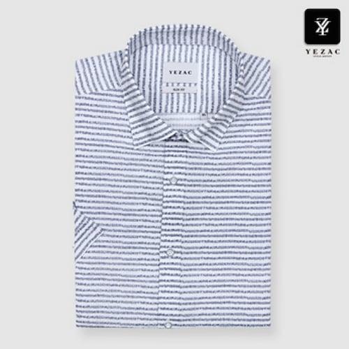 패션그룹형지 예작 니플 호리존탈 슬림핏 반소매 셔츠 YJ8MBA816WH_이미지