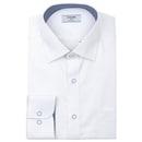 트윌 솔리드 긴소매 셔츠 RKFSG0-005-WH