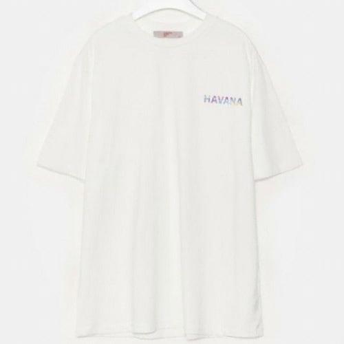 에잇세컨즈 남성 화이트 코튼 멀티 컬러 레터링 반소매 티셔츠 459742LQ51_이미지