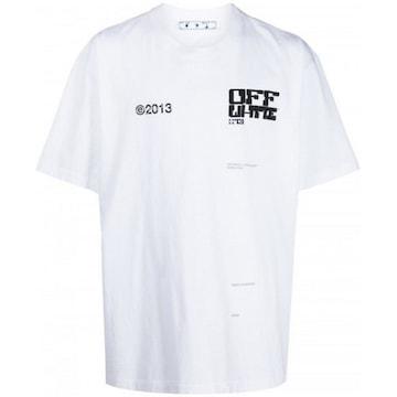오프화이트 테크 마커 반팔 티셔츠 OMAA038S 21JER008 0110_이미지
