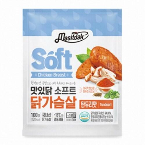 푸드나무 맛있닭 소프트 닭가슴살 탄두리맛 100g (100개)_이미지