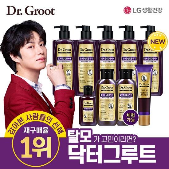 LG생활건강 닥터그루트 프로비오틴 힘없는 모발 탈모 샴푸+트리트먼트 9종 세트