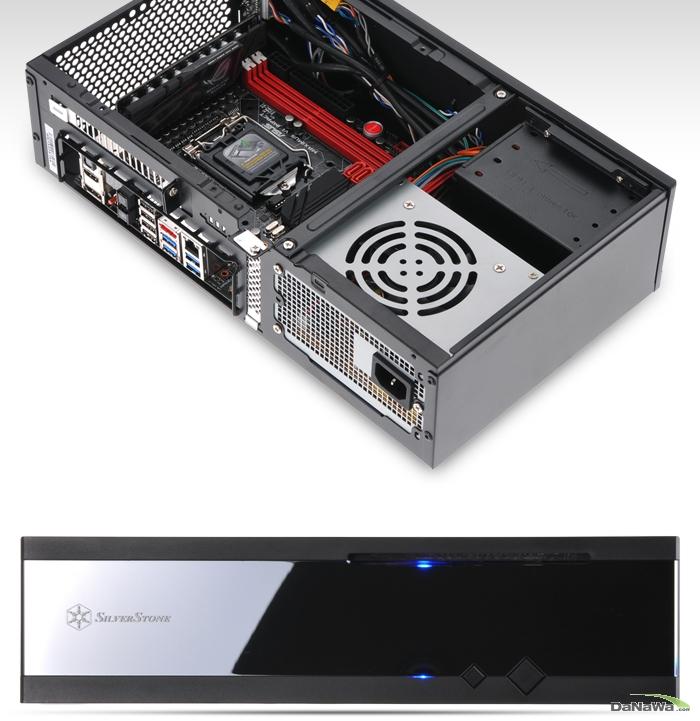SILVERSTONE Milo ML05B iBORA 제품 정측면 및 정면 이미지