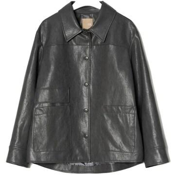 빈폴레이디스 페이크 레더 트러커 재킷