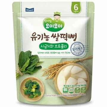 매일유업 맘마밀 요미요미 유기농 쌀떡뻥 시금치와 브로콜리 30g (1개)