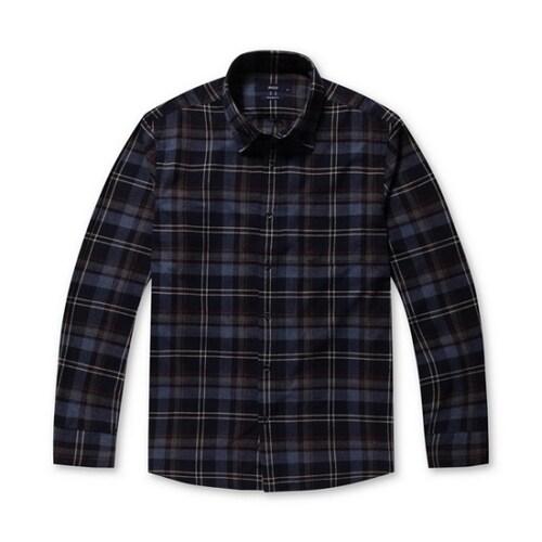 코오롱인더스트리 스파소 배색 체크 믹스 셔츠 SPSAA17572BUX_이미지