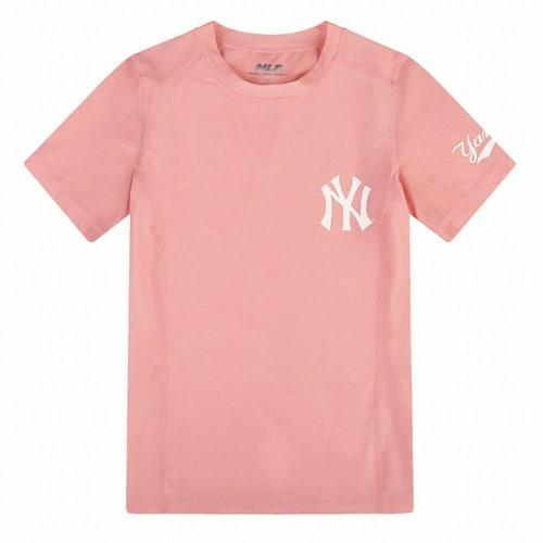 MLB 31SWC5931-50P 뉴욕양키스 로고 포인트 반팔 래쉬가드_이미지