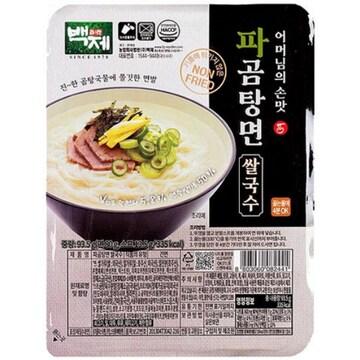 백제 어머님 손맛 파곰탕면 쌀국수 93.5g
