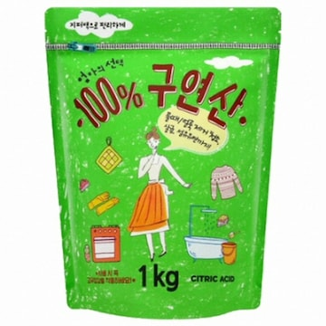 엄마의선택 100% 구연산 1kg(1개)