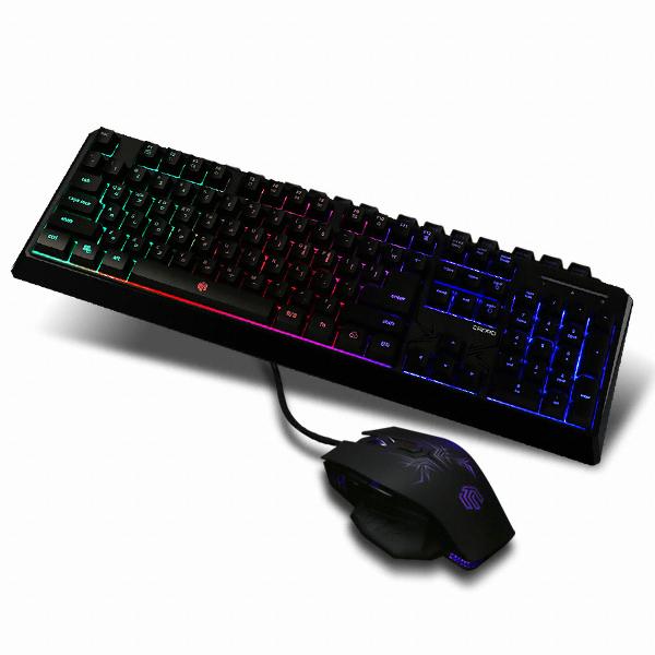 웨이코스 씽크웨이 CROAD P204 LED 스탠다드 게이밍 키보드 마우스 콤보
