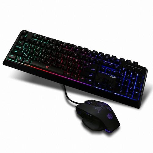 웨이코스 씽크웨이 CROAD P204 LED 스탠다드 게이밍 키보드 마우스 콤보_이미지