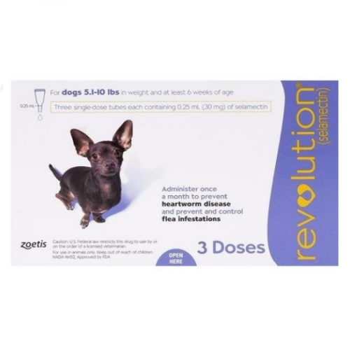 레볼루션 강아지 심장사상충약 2.3-4.5kg (3개)_이미지
