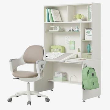 한샘 티오 그로우 각도조절 5단 책상세트+링고S 의자 고정중심봉 발받침 (120x75cm)_이미지