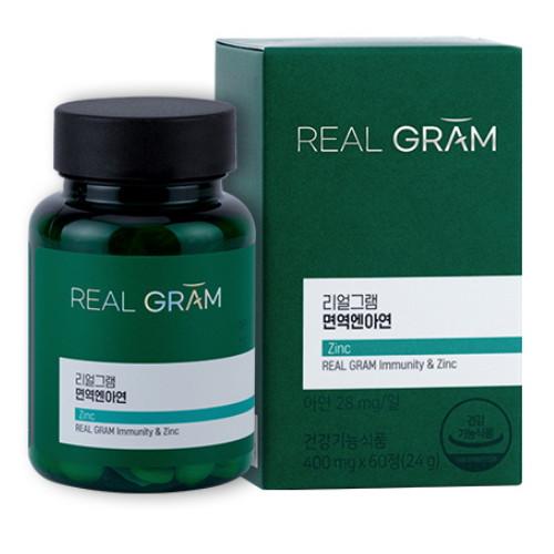 한국씨엔에스팜 리얼그램 면역엔아연 60정(1개)