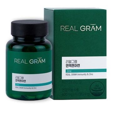 한국씨엔에스팜 리얼그램 면역엔아연 60정 (1개)_이미지