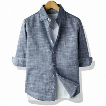 르젠옴므 톤다운 스크래치 슬림핏 7부 셔츠